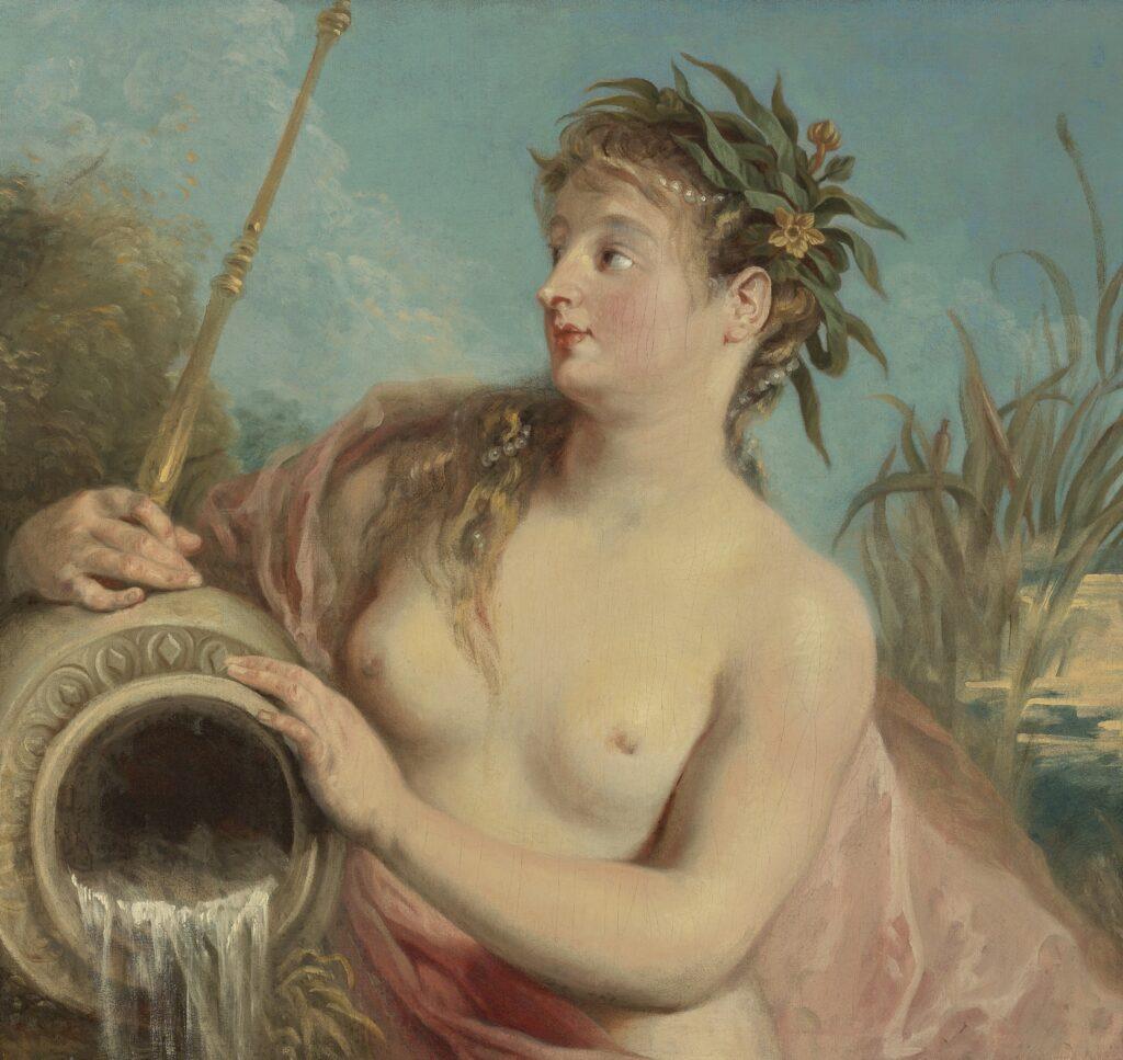 Nymphe de fontaine by Jean-Antoine Watteau.
